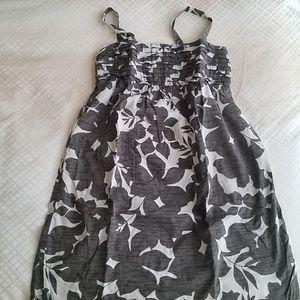 Gray floral sundress